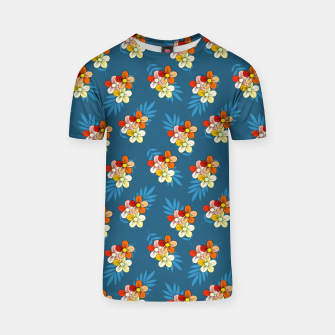 Thumbnail image of Summer Wind Floral Pattern T-shirt, Live Heroes