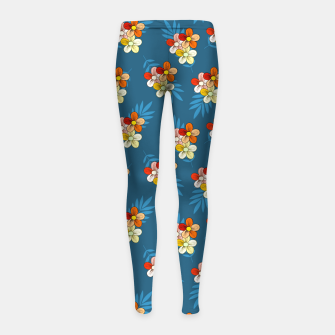 Thumbnail image of Summer Wind Floral Pattern Girl's leggings, Live Heroes