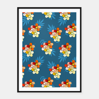 Thumbnail image of Summer Wind Floral Pattern Framed poster, Live Heroes