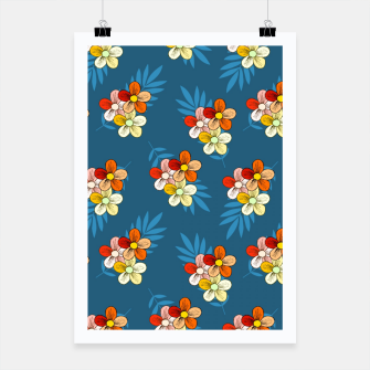 Thumbnail image of Summer Wind Floral Pattern Poster, Live Heroes