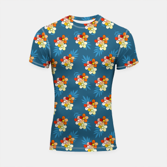 Thumbnail image of Summer Wind Floral Pattern Shortsleeve rashguard, Live Heroes