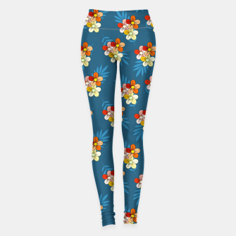 Thumbnail image of Summer Wind Floral Pattern Leggings, Live Heroes