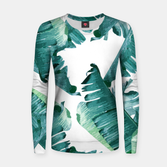 Thumbnail image of Tropical Banana Leaves Women sweater, Live Heroes
