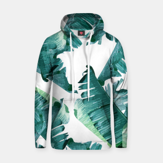 Tropical Banana Leaves Hoodie Bild der Miniatur