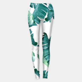 Tropical Banana Leaves Leggings Bild der Miniatur