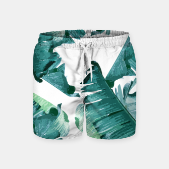 Thumbnail image of Tropical Banana Leaves Swim Shorts, Live Heroes