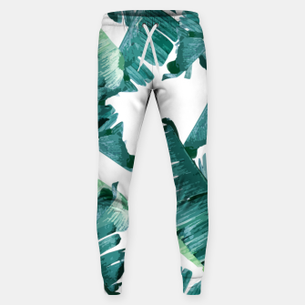 Tropical Banana Leaves Sweatpants Bild der Miniatur