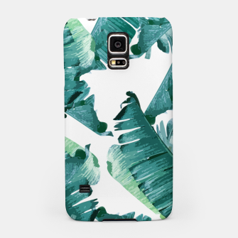 Thumbnail image of Tropical Banana Leaves Samsung Case, Live Heroes