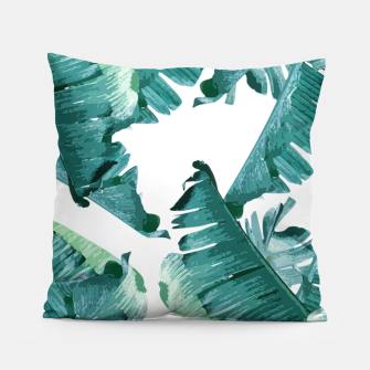 Thumbnail image of Tropical Banana Leaves Pillow, Live Heroes