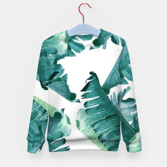 Thumbnail image of Tropical Banana Leaves Kid's sweater, Live Heroes