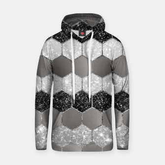 Thumbnail image of Silver Hexagon Glitter Glam #1 #geometric #decor #art Kapuzenpullover, Live Heroes