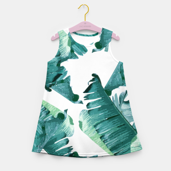 Thumbnail image of Tropical Banana Leaves Girl's summer dress, Live Heroes