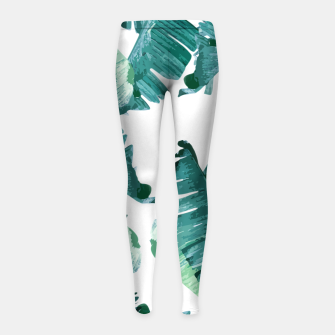 Tropical Banana Leaves Girl's leggings Bild der Miniatur