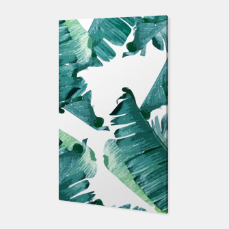 Thumbnail image of Tropical Banana Leaves Canvas, Live Heroes