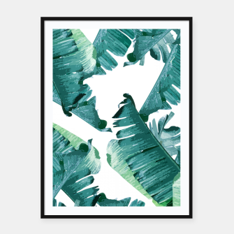 Thumbnail image of Tropical Banana Leaves Framed poster, Live Heroes
