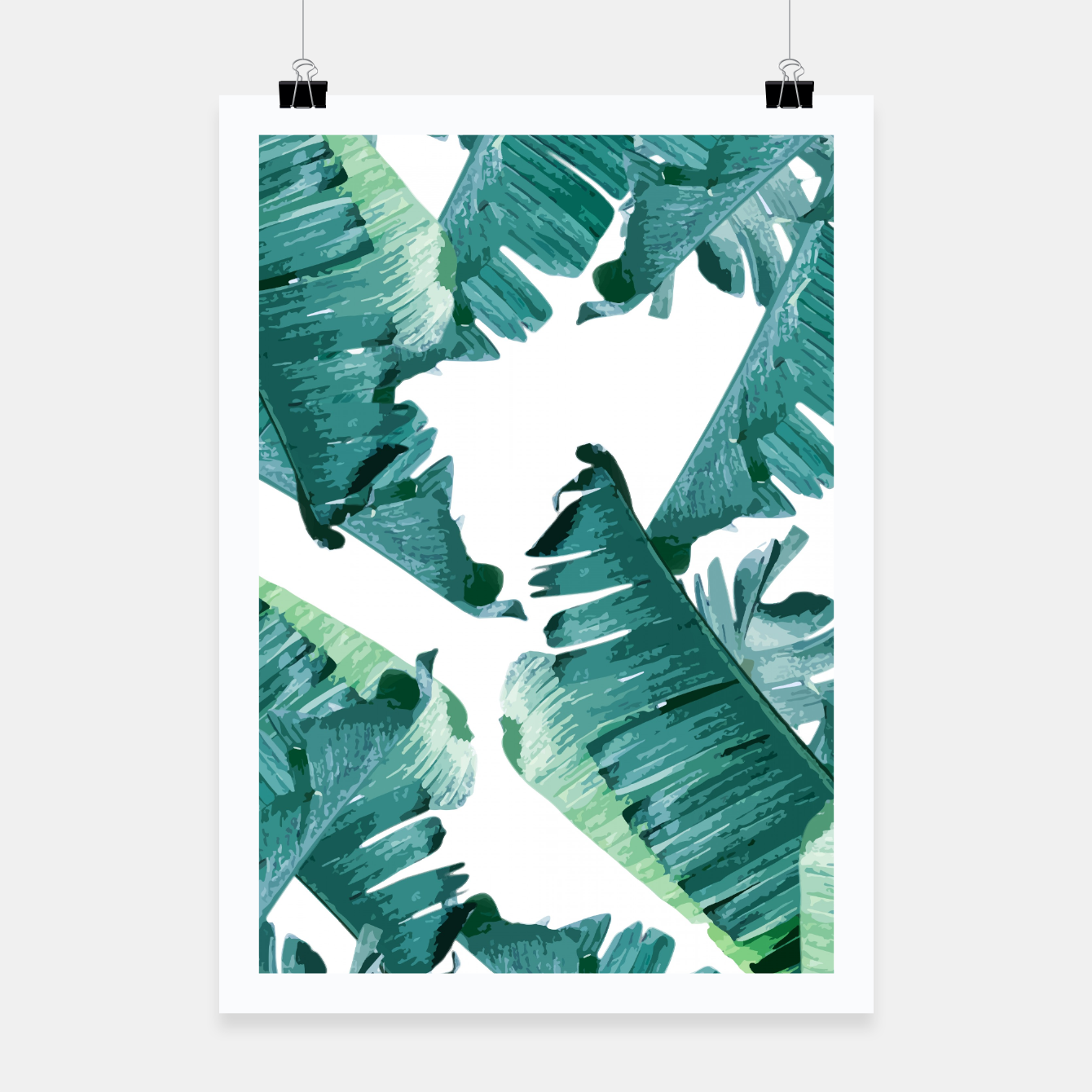 Image of Tropical Banana Leaves Poster - Live Heroes