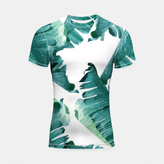 Thumbnail image of Tropical Banana Leaves Shortsleeve rashguard, Live Heroes