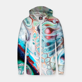 Thumbnail image of Abstract Inside Zip up hoodie, Live Heroes