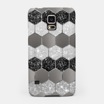 Thumbnail image of Silver Hexagon Glitter Glam #1 #geometric #decor #art Handyhülle für Samsung, Live Heroes