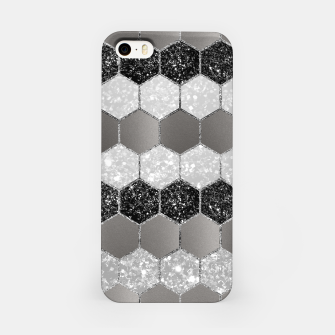 Miniatur Silver Hexagon Glitter Glam #1 #geometric #decor #art iPhone-Hülle, Live Heroes