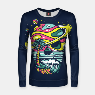 Miniatur Tropical Skull Women sweater, Live Heroes