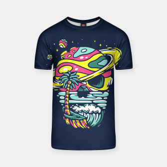 Thumbnail image of Tropical Skull T-shirt, Live Heroes