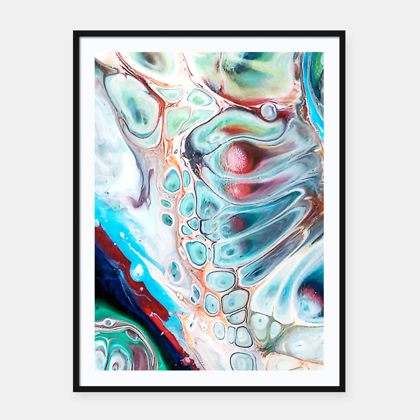 Image of Abstract Inside Framed poster - Live Heroes
