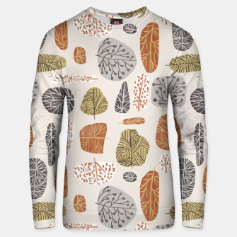 Tree Stamps Unisex sweater Bild der Miniatur