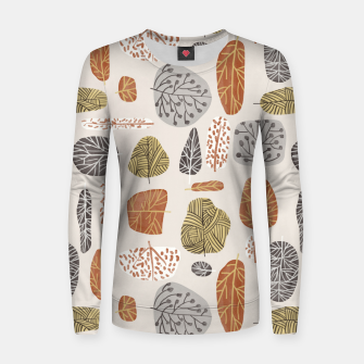 Tree Stamps Women sweater Bild der Miniatur