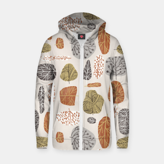 Tree Stamps Zip up hoodie thumbnail image