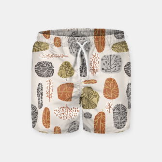 Tree Stamps Swim Shorts Bild der Miniatur