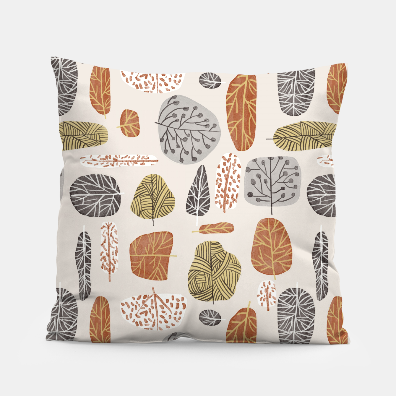 Image of Tree Stamps Pillow - Live Heroes