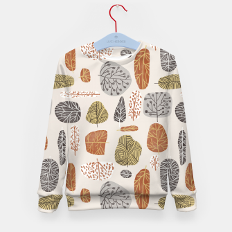 Tree Stamps Kid's sweater Bild der Miniatur