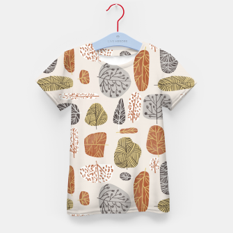 Tree Stamps Kid's t-shirt Bild der Miniatur