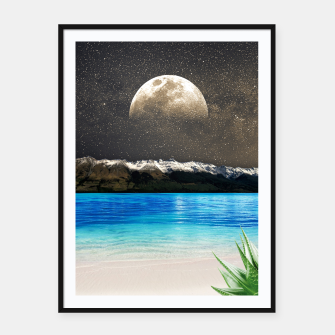 Thumbnail image of Aloe Vera Moon Beach Framed poster, Live Heroes