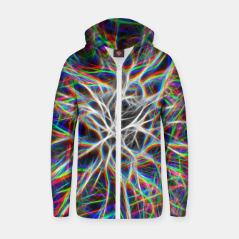 Miniatur Brain Nerves on Acid Zip up hoodie, Live Heroes