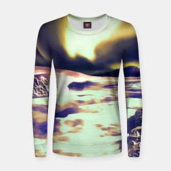 Thumbnail image of aurora borealis acrylic reacls Women sweater, Live Heroes