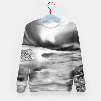 Thumbnail image of aurora borealis acrylic reacbw Kid's sweater, Live Heroes