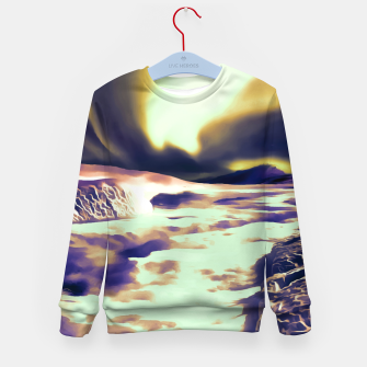 Thumbnail image of aurora borealis acrylic reacls Kid's sweater, Live Heroes
