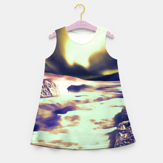 Miniature de image de aurora borealis acrylic reacls Girl's summer dress, Live Heroes