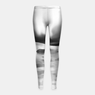 Thumbnail image of aurora borealis acrylic reacbw Girl's leggings, Live Heroes