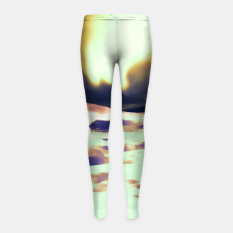 Thumbnail image of aurora borealis acrylic reacls Girl's leggings, Live Heroes