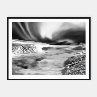 Thumbnail image of aurora borealis acrylic reacbw Framed poster, Live Heroes