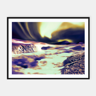 Thumbnail image of aurora borealis acrylic reacls Framed poster, Live Heroes