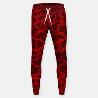 Miniatur Red Texture Sweatpants, Live Heroes