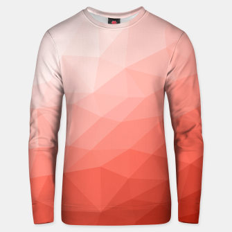Thumbnail image of Living coral geometric mesh ombre Unisex sweater, Live Heroes