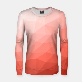Thumbnail image of Living coral geometric mesh ombre Women sweater, Live Heroes