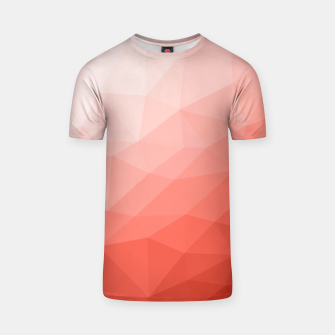 Thumbnail image of Living coral geometric mesh ombre T-shirt, Live Heroes