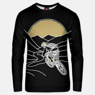 Thumbnail image of Mountain Biker Unisex sweater, Live Heroes