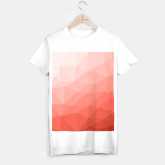 Thumbnail image of Living coral geometric mesh ombre T-shirt regular, Live Heroes